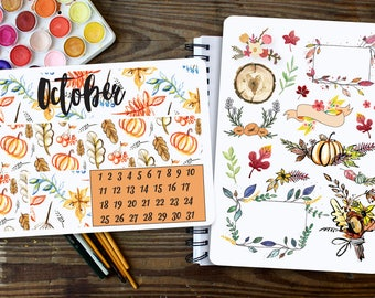 Autumn Stickers, Fall Stickers, Autumn Stickers, Autumn Planner Stickers, Fall Stickers,Autumn Sticker kit, Fall Sticker Kit,October Sticker