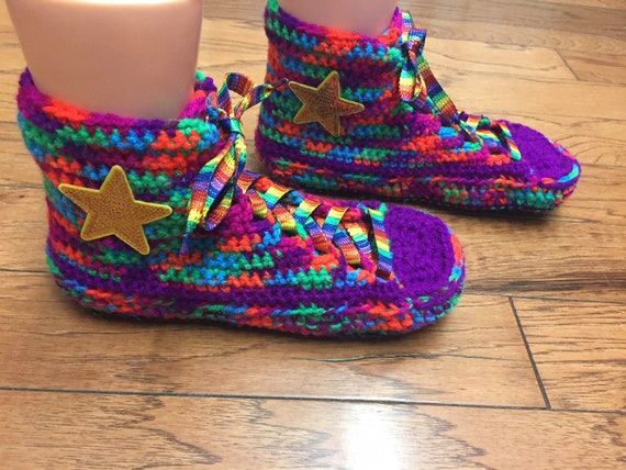 4232e937471fea ... rainbow high shoe rainbow tennis 337 tops converse crocheted 8 inspired  top List sneaker converse 10 ...