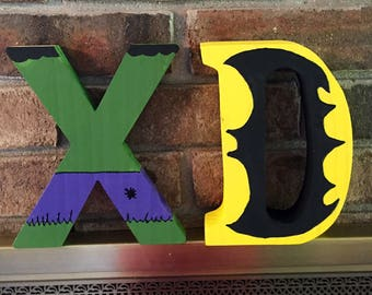 Superhero Hand Painted Letters