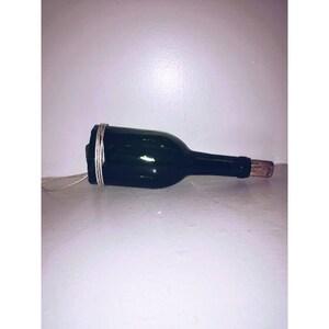 Wine bottle hanging planter