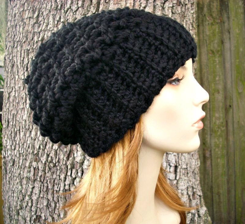 Instant Download Crochet Pattern - Slouchy Hat Crochet Pattern ...