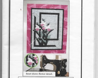 Lady Slippers Wall Hanging Fusible Web Project Size 20 inches by 24 inches Quick and Easy