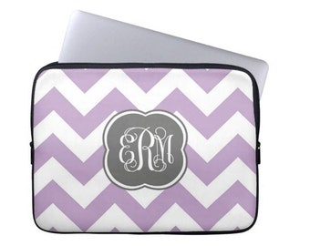Personalized Laptop Sleeve  MacBook Air Pro  Monogram Tablet Case  Monogram Laptop Case, sorority gift
