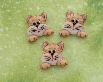 Alley Cat Button set of 3