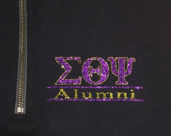 Sorority/ Fraternity Alumni 1/4 Zip Sweater