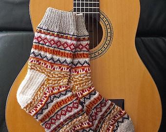 "Adult socks (""Balthazar's Jumper Socks"") knitting pattern (PDF)"