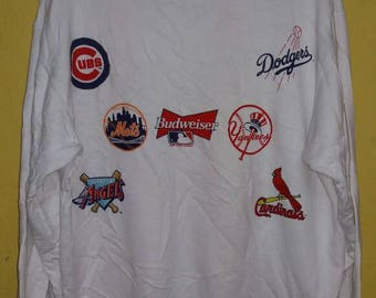Budwieser major league baseball sweatshirt