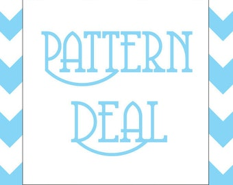 CROCHET PATTERN DEAL - Choose Any Three Crochet Patterns