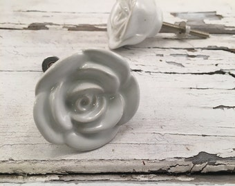 Knobs, Decorative Rose Drawer Knob, Instant Furniture Upgrade Ceramic Drawer Pulls, Home Improvement Cabinet Supplies