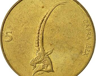 slovenia 5 tolarjev 1998 ef(40-45) nickel-brass km6