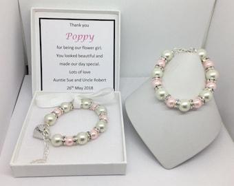 Flower Girl Gift, Flower Girl Bracelet, Flower Girl Jewelry, Flower Girl, Flower Girl Keepsake, Personalised Bracelet, Flower Girl Thank You