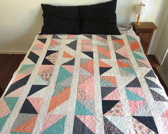 Paper  Pattern | Mixed Triangles Quilt Pattern | Quilting Pattern