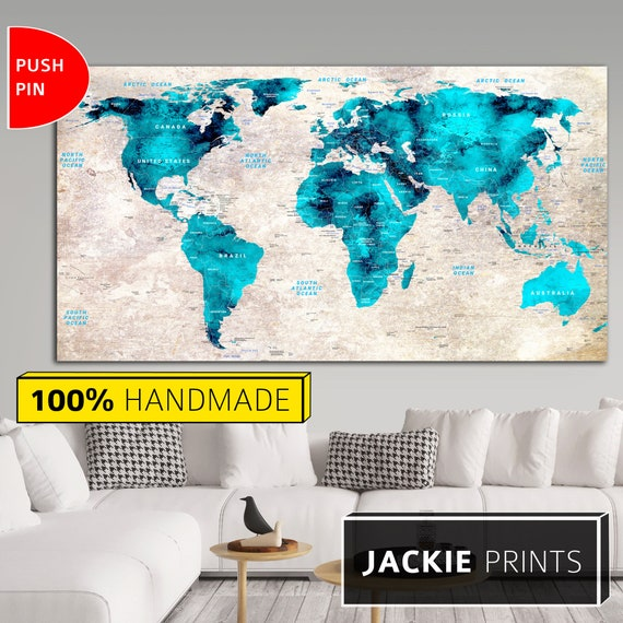 Wall World Map Large World Map Map of the World Colorful