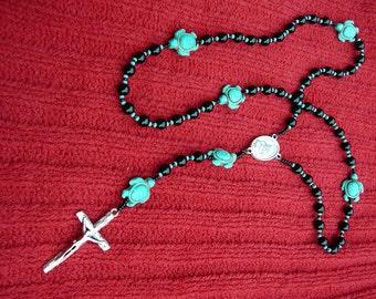 Native American Turtles & Black Onyx Rosary