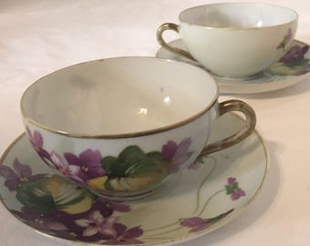 Nippon Nagoya SNB bone china 2 cups & saucer