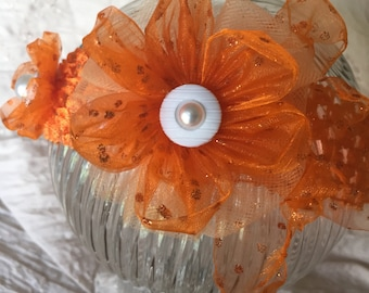 Crochet Orange Headband