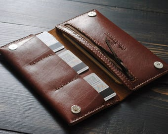 Leather wallet phone case Mens leather wallet brown Leather travel clutch Leather travel organizer Mens wallet Womens wallet personalized
