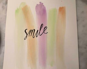 """Watercolor Print- """"Smile"""""""