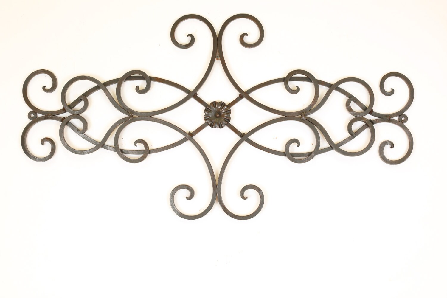 Wrought Iron Heart Wall Decor Architectural Iron Door Topper Heart Scroll Wall
