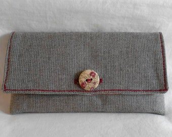Purse with Flaich, purse with linen, bio wallet