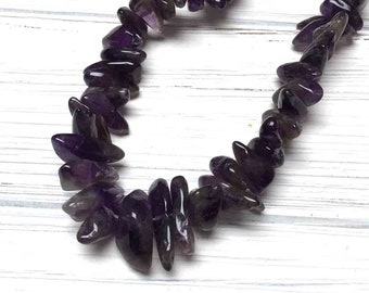 Dark Amethyst Nuggets. Large Nuggets. Gemstone Beads. Chunky Beads. 10mm-25mm. Full Strand 15 Inch.