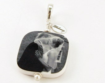 Personalized Photo Pendant - Small With Rounded Corners - P3R