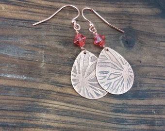 Etched Copper, Butterfly Wings, Metalwork Earrings, Butterfly Jewelry, Butterfly Necklace, Copper Jewelry, Spring Jewelry, Copper Earrings