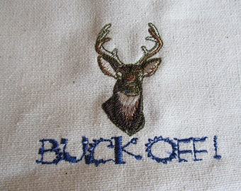 Buck Off Canvas Tote