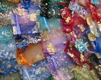 Sampler mix Surprise me Random choice of 10 mixed size and color Organza Bags