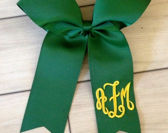Monogrammed Softball Bow - Cheer Bow with Monogram - White Cheer Bow - Team Cheer Bow - Softball Bows - Softball Bow - Softball bow monogram