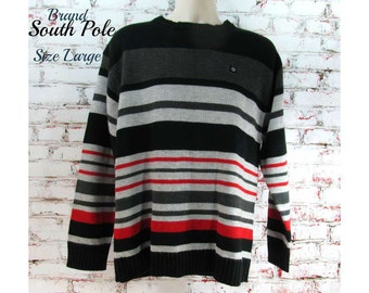 striped sweater, unisex jumper , baggy sweater, guys sweater, large sweater, # 25