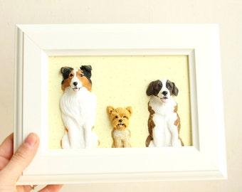 Pet portrait, pet illustration, personalized dog portrait, custom pet portrait, pet memorial, dog sculpture, dog remembrance, custom pet art