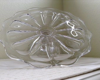 Old Williamsburg-Clear Pedestal Cake Stand by Imperial Glass