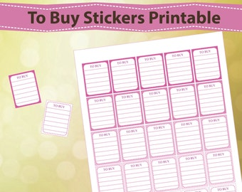 To Buy Planner Stickers Printable, Pink Planner Stickers, Erin Condren Stickers, ECLP To Buy Stickers, Printable Planner Stickers