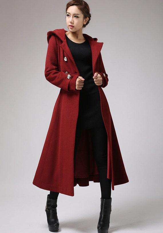 Well known Winter coat trench coat red coat military coat long coat PJ26