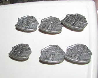 house set buttons set of 4