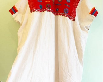 Vintage 1970s Mexican 100% Cotton Embroidered shirts