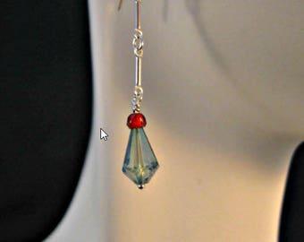 Gemstone Dangle Earrings,gemstone earrings,silver earrings, drop earrings, dangle earrings,sterling silver earrings,garnet earrings,amethyst
