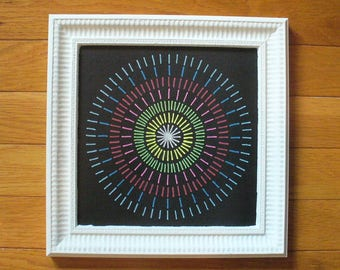 Handcrafted Chalkboard Art:   Radiant