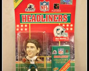 1998 Collection of NFL Headliners QB Club Dan Marino Figurine, Miami Dolphins, NFL Quarterback Dan Marino, Officially Licensed Product