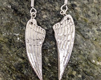 Silver Angel Wing Earrings i