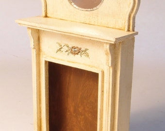 1:24 scale miniature dollhouse furniture kit cottage fireplace