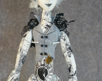 "Prof Fairy -  18"" Art Doll"