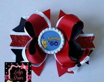 Pokemon go Hair Bow, Pokémon go bow, pokemon hair bow, pokemon bow, Pokémon go, pokemon go, Pikachu hair bow, Pikachu bow