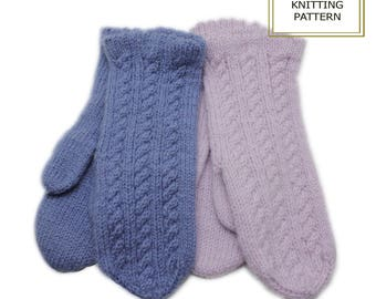 Knitting pattern -Hot Cables mittens