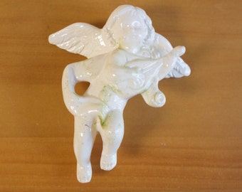 Vintage White Porcelain Cherub Angel Christmas Christmas decor