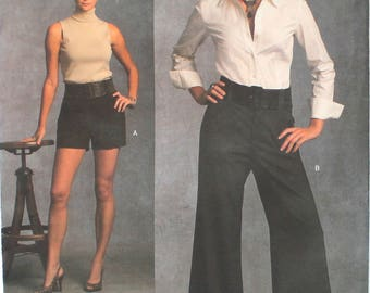 UNCUT Alice and Olivia Pants and Shorts Size 6-8-10-12 Waist 23-26.5 Vogue American Designer V1035 1035