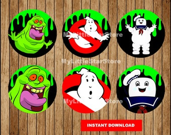 Ghostbusters Cupcakes Toppers, Printable Ghostbusters Toppers, Ghostbusters party Toppers Instant download