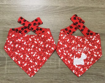 Little Westies Reversible Spring Bandana (with and without embroidery)