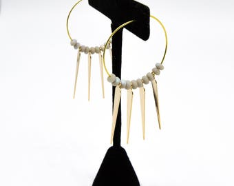 Spiked Wire Hoops